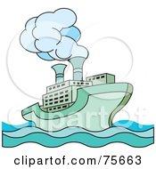 Green Steamer Cruise Ship
