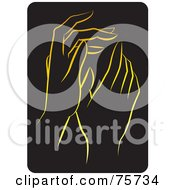 Royalty Free RF Clipart Illustration Of A Pair Of Gentle Gold Female Hands by Lal Perera