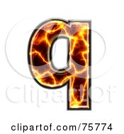 Royalty Free RF Clipart Illustration Of A Magma Symbol Lowercase Letter Q by chrisroll