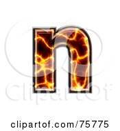 Royalty Free RF Clipart Illustration Of A Magma Symbol Lowercase Letter N by chrisroll