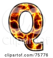 Royalty Free RF Clipart Illustration Of A Magma Symbol Capital Letter Q by chrisroll