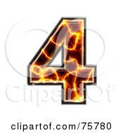 Royalty Free RF Clipart Illustration Of A Magma Symbol Number 4