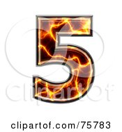 Royalty Free RF Clipart Illustration Of A Magma Symbol Number 5 by chrisroll