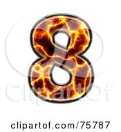 Royalty Free RF Clipart Illustration Of A Magma Symbol Number 8 by chrisroll