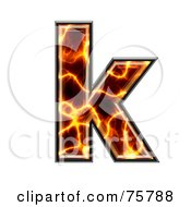 Royalty Free RF Clipart Illustration Of A Magma Symbol Lowercase Letter K by chrisroll