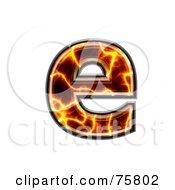 Magma Symbol Lowercase Letter E