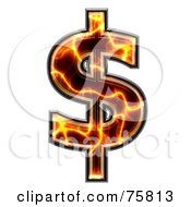 Royalty Free RF Clipart Illustration Of A Magma Symbol Dollar by chrisroll