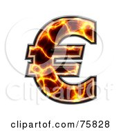 Royalty Free RF Clipart Illustration Of A Magma Symbol Euro by chrisroll