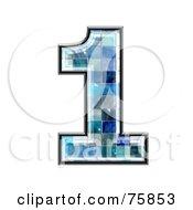 Blue Tile Symbol Number 1