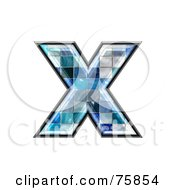 Royalty Free RF Clipart Illustration Of A Blue Tile Symbol Lowercase Letter X by chrisroll