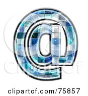 Royalty Free RF Clipart Illustration Of A Blue Tile Symbol Arobase by chrisroll