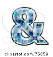 Royalty Free RF Clipart Illustration Of A Blue Tile Symbol Ampersand