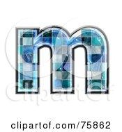 Blue Tile Symbol Lowercase Letter M