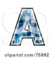 Royalty Free RF Clipart Illustration Of A Blue Tile Symbol Capital Letter A