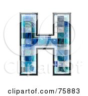 Royalty Free RF Clipart Illustration Of A Blue Tile Symbol Capital Letter H