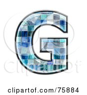 Royalty Free RF Clipart Illustration Of A Blue Tile Symbol Capital Letter G
