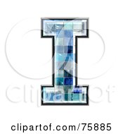 Blue Tile Symbol Capital Letter I