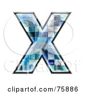 Royalty Free RF Clipart Illustration Of A Blue Tile Symbol Capital Letter X