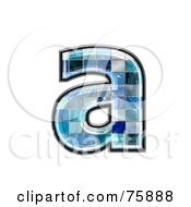 Royalty Free RF Clipart Illustration Of A Blue Tile Symbol Lowercase Letter A