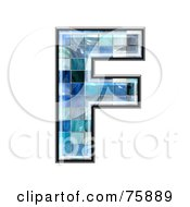 Royalty Free RF Clipart Illustration Of A Blue Tile Symbol Capital Letter F