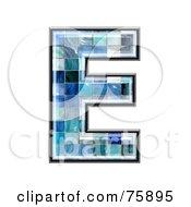 Royalty Free RF Clipart Illustration Of A Blue Tile Symbol Capital Letter E