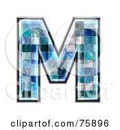 Royalty Free RF Clipart Illustration Of A Blue Tile Symbol Capital Letter M