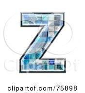 Royalty Free RF Clipart Illustration Of A Blue Tile Symbol Capital Letter Z