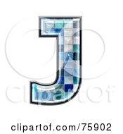 Royalty Free RF Clipart Illustration Of A Blue Tile Symbol Capital Letter J