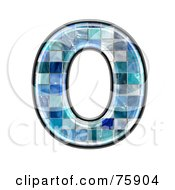 Royalty Free RF Clipart Illustration Of A Blue Tile Symbol Capital Letter O