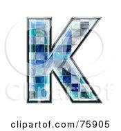 Royalty Free RF Clipart Illustration Of A Blue Tile Symbol Capital Letter K