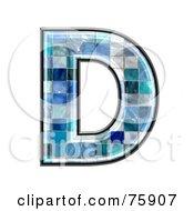 Royalty Free RF Clipart Illustration Of A Blue Tile Symbol Capital Letter D