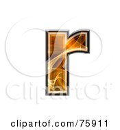 Royalty Free RF Clipart Illustration Of A Fractal Symbol Lowercase Letter R by chrisroll