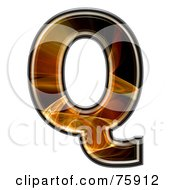 Royalty Free RF Clipart Illustration Of A Fractal Symbol Capital Letter Q by chrisroll