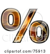 Royalty Free RF Clipart Illustration Of A Fractal Symbol Percent by chrisroll