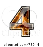 Royalty Free RF Clipart Illustration Of A Fractal Symbol Number 4