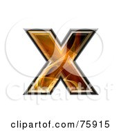 Royalty Free RF Clipart Illustration Of A Fractal Symbol Lowercase Letter X by chrisroll