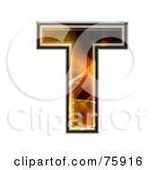 Fractal Symbol Capital Letter T by chrisroll