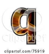 Royalty Free RF Clipart Illustration Of A Fractal Symbol Lowercase Letter Q by chrisroll