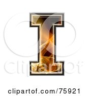 Royalty Free RF Clipart Illustration Of A Fractal Symbol Capital Letter I by chrisroll