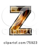 Royalty Free RF Clipart Illustration Of A Fractal Symbol Capital Letter Z by chrisroll