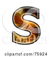 Royalty Free RF Clipart Illustration Of A Fractal Symbol Capital Letter S by chrisroll