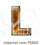 Royalty Free RF Clipart Illustration Of A Fractal Symbol Capital Letter L by chrisroll