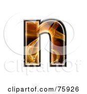 Royalty Free RF Clipart Illustration Of A Fractal Symbol Lowercase Letter N by chrisroll