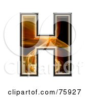 Royalty Free RF Clipart Illustration Of A Fractal Symbol Capital Letter H by chrisroll