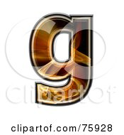 Royalty Free RF Clipart Illustration Of A Fractal Symbol Lowercase Letter G by chrisroll