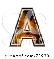 Royalty Free RF Clipart Illustration Of A Fractal Symbol Capital Letter A by chrisroll