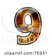 Royalty Free RF Clipart Illustration Of A Fractal Symbol Number 9 by chrisroll