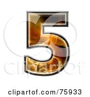 Royalty Free RF Clipart Illustration Of A Fractal Symbol Number 5 by chrisroll