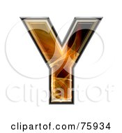 Royalty Free RF Clipart Illustration Of A Fractal Symbol Capital Letter Y by chrisroll