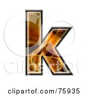 Royalty Free RF Clipart Illustration Of A Fractal Symbol Lowercase Letter K by chrisroll